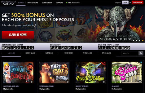 Play Jurassic Island slots at Casino.com South Africa