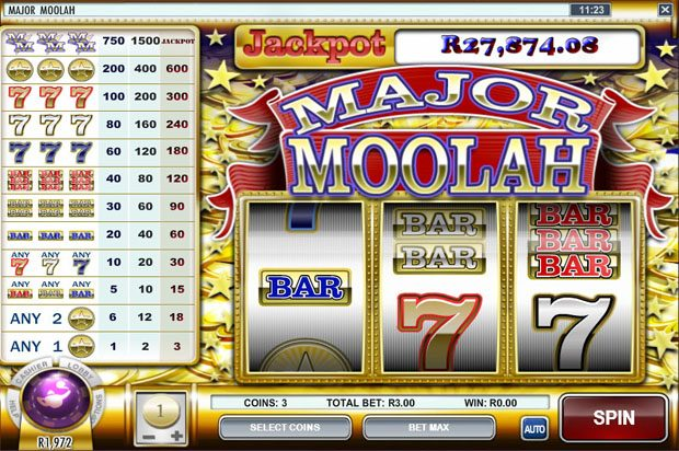 Rival Progressive Jackpot – Major Moolah
