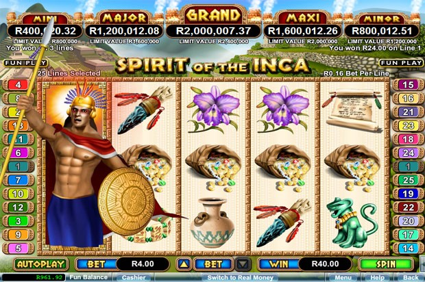 RTG Progressive Jackpot – Spirit of the Inca