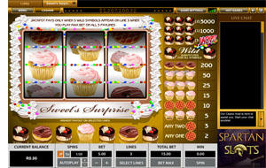 Stars and Stripes Sweet's Surprise Progressive Jackpot