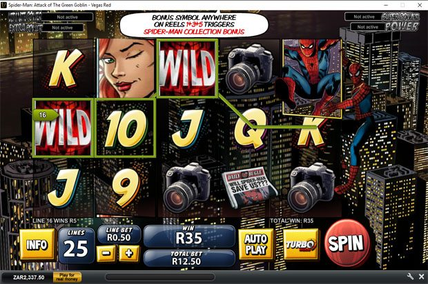 Spider Man: Attack of the Green Goblin – Playtech Marvel Progressive Jackpot