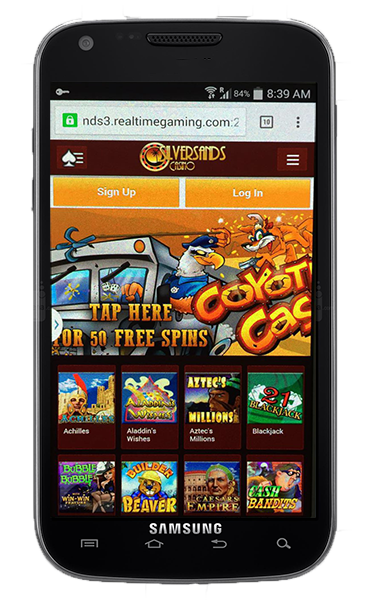silversands casino mobile no deposit