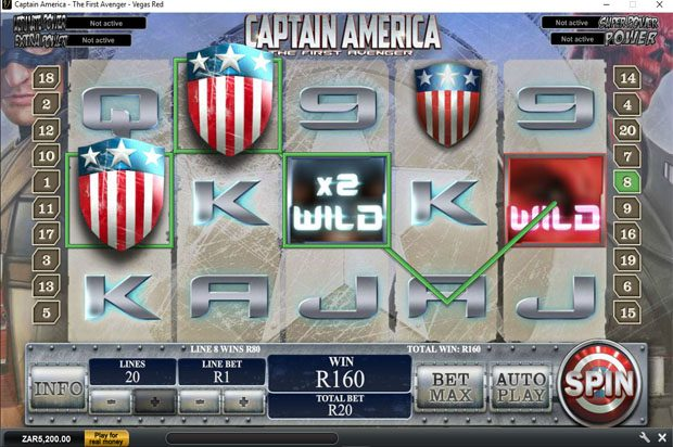 Captain America: The First Avenger – Playtech Marvel Progressive Jackpot