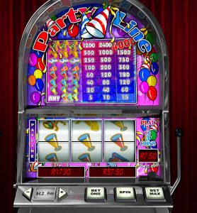 3 Reel 1 Payline Slot (Party Lline)
