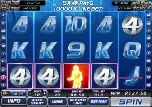 5 Reel 20 Payline Multiline Online Slots (Fantastic Four)