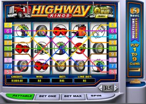 5 Reel 9 Payline Multiline Slots (Highway Kings)