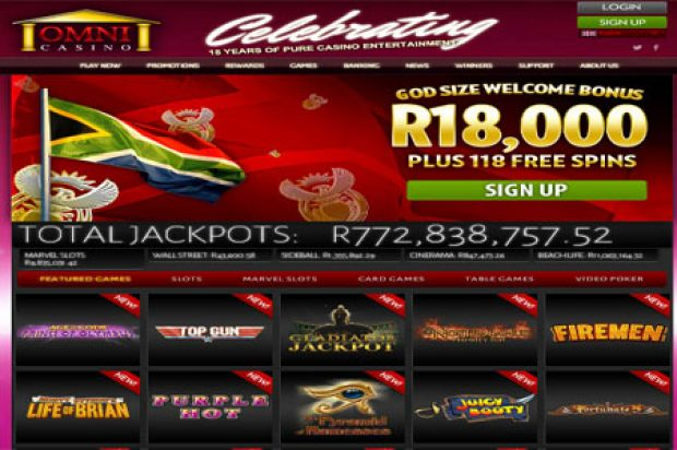 Omni Casino is the leading South African casino offering Playtech games in ZAR Rands
