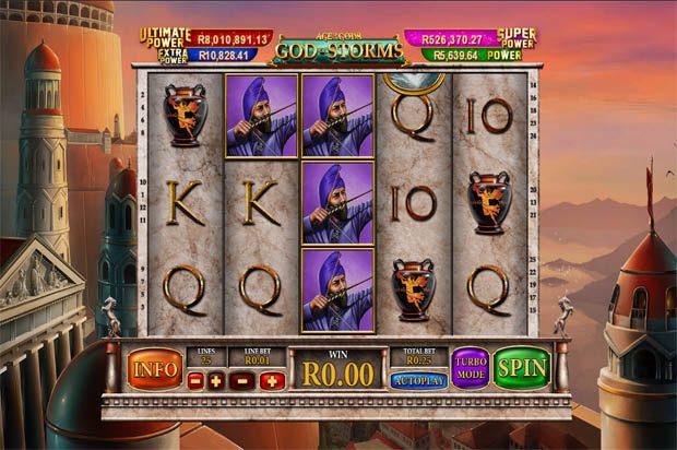 Age of the Gods: God of Storms – Playtech Progressive Jackpot