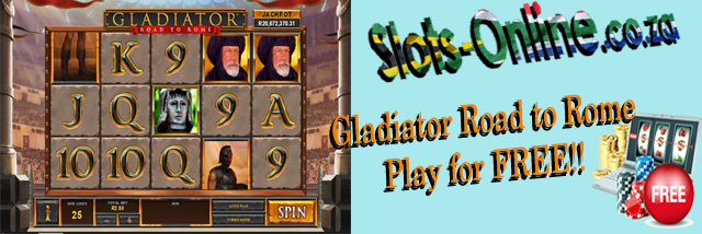 Play Gladiator Road to Rome slot for Free