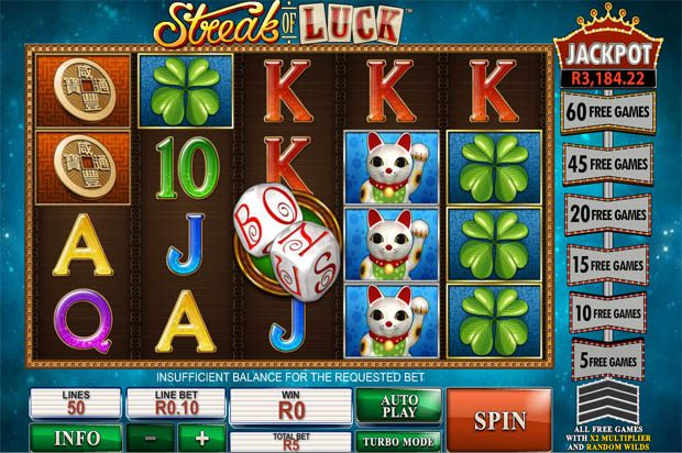 Streak of Luck – Playtech Progressive Jackpot
