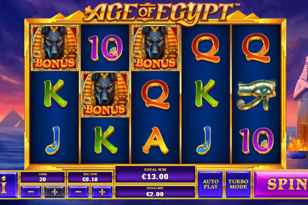 Age of Egypt is a Playtech Video Slot available in South African Rands