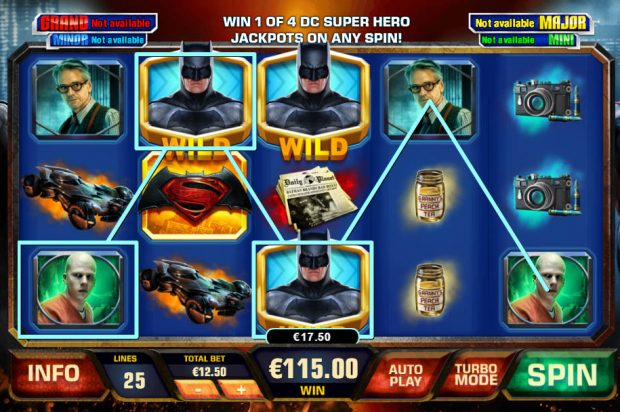 Batman vs Superman: Dawn of Justice Playtech Progressive Slot, play in South African Rands