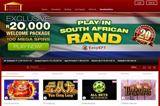 Omni Casino is celerating 20 years online – South Arican players claim R20,000 in Bonuses and 100 Mega Spins