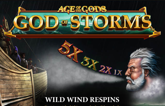 Age of the Gods: God of Storms – Playtech Progressive Jackpot